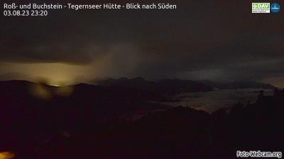 Aktuelles Bild der Webcam oberhalb der Tegernseer Hütte