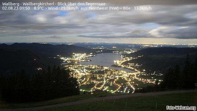 Webcam Wallberg vor dem Wallbergkircherl mit Blick nach Norden über den Tegernsee